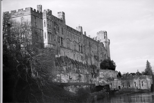 Side view of Warwick Castle