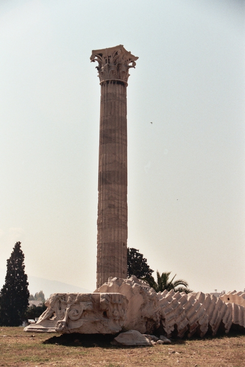 Toppled column - Temple of Olympian Zeus