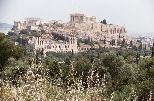 View of Acropolis from Filopappos Monument