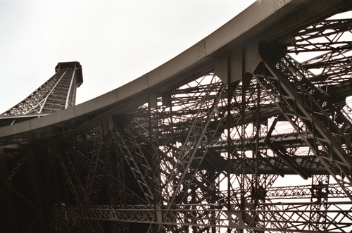 Underview of Eiffel Tower